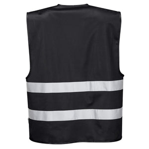 back of black reflective vest - safety vest warehouse