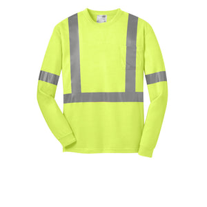 Class 2 Long Sleeve Safety T-Shirt ANSI 107 CornerStone