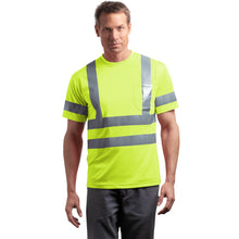 Load image into Gallery viewer, Class 3 Short Sleeve Double Reflective Tape ANSI 107 Snag-Resistant T-Shirt CornerStone