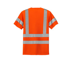 Class 3 Short Sleeve Double Reflective Tape ANSI 107 Snag-Resistant T-Shirt CornerStone
