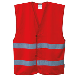 Custom Red Safety Vest Reflective Hi Vis Work and Event Style