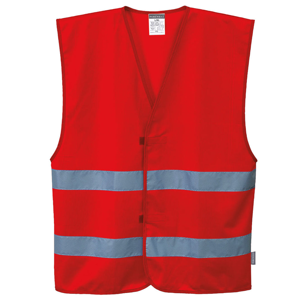 Red Safety Vest Reflective Hi Vis Work and Event Style