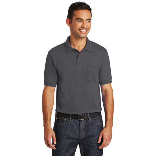 Core Blend Jersey Knit Polo With Pocket