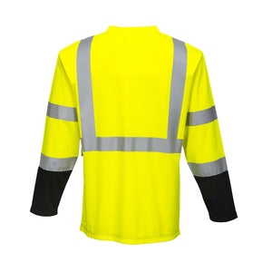 Class 3 Long Sleeve Safety Shirt Moisture Wicking - Safety Vest Warehouse