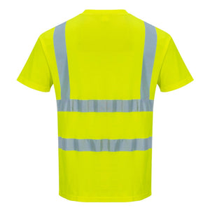 Custom Yellow Hi Vis ANSI Class 2 Safety Shirt