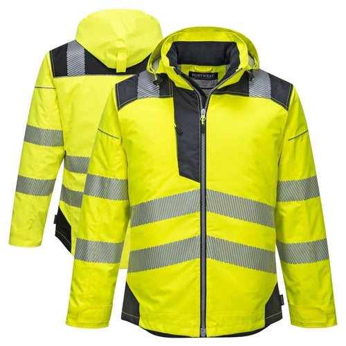Custom PW3 Hi-Vis Winter Jacket with Reflective Segmented Tape