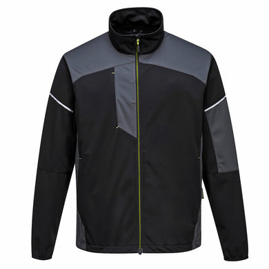 Stylish Black and Gray Flex Shell Jacket