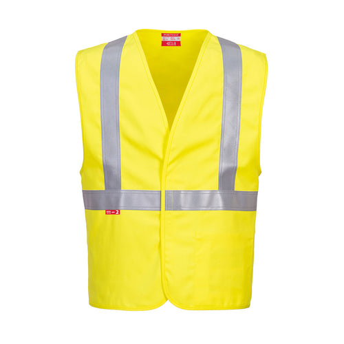 Woven Flame Resistant Yellow Safety Vest