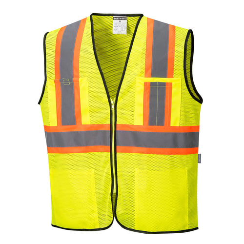 Class 2 Safety Vest with Pockets Mesh