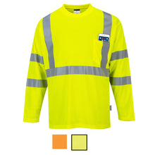 Load image into Gallery viewer, Class 3 Long Sleeve Safety Shirt Hi-Vis Moisture Wicking
