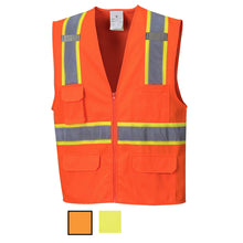 Load image into Gallery viewer, Class 2 Safety Vest with Cooling Mesh Back