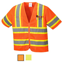 Load image into Gallery viewer, Class 3 Safety Vest Sleeved Hi-Vis with Pockets