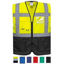 Load image into Gallery viewer, Warsaw Yellow and Black Professional Executive Style Safety Vest