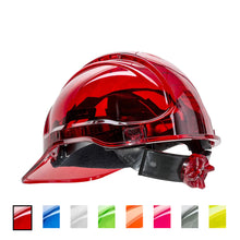 Load image into Gallery viewer, Rachet Hard Hat Vented Peak View Multiple Colors
