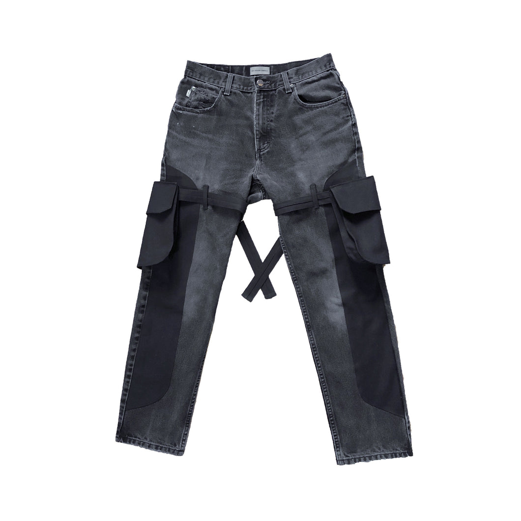 Black Denim Cargo's - [1 of 1]