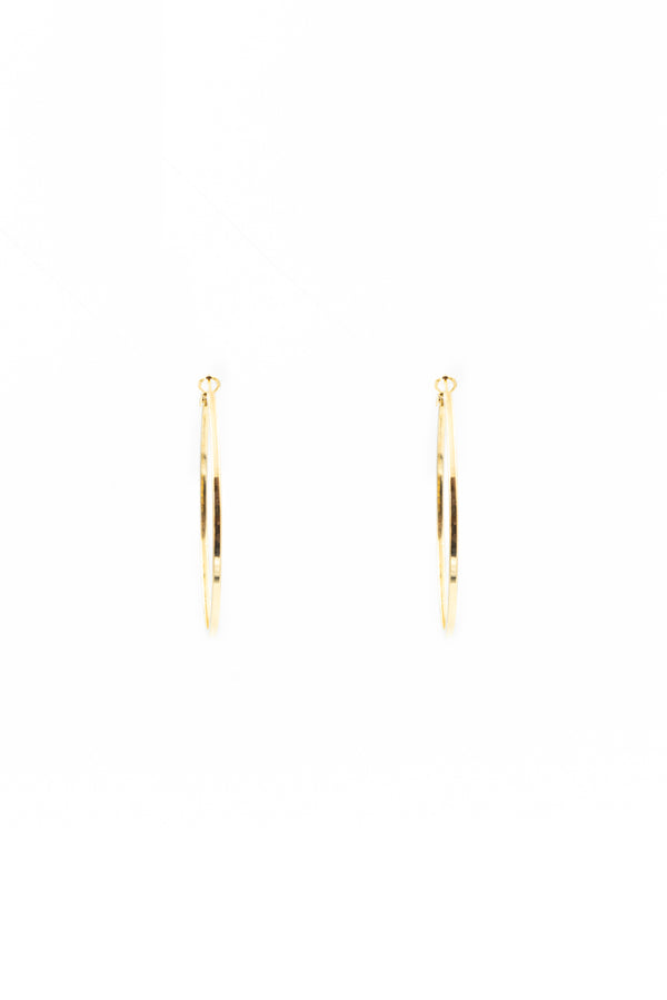 Classic Zoe Gold Hoops