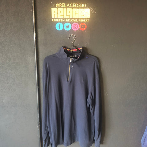 "Nautica Black ""Zip-Up"" Sweater"