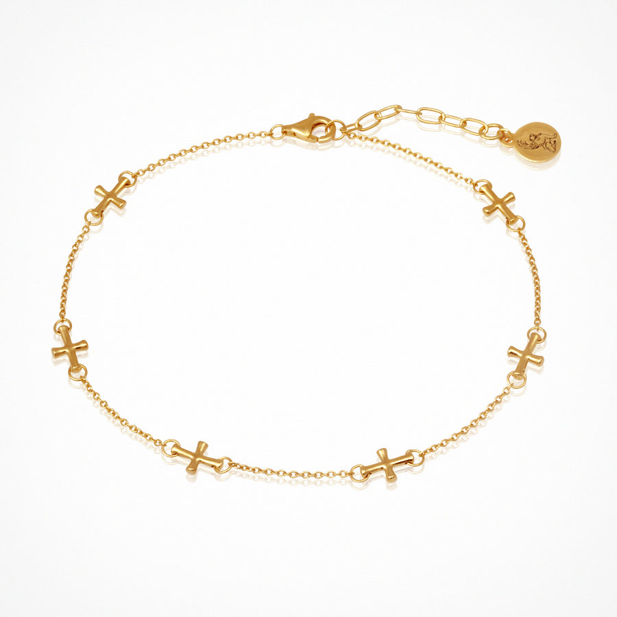 Cross Anklet Gold