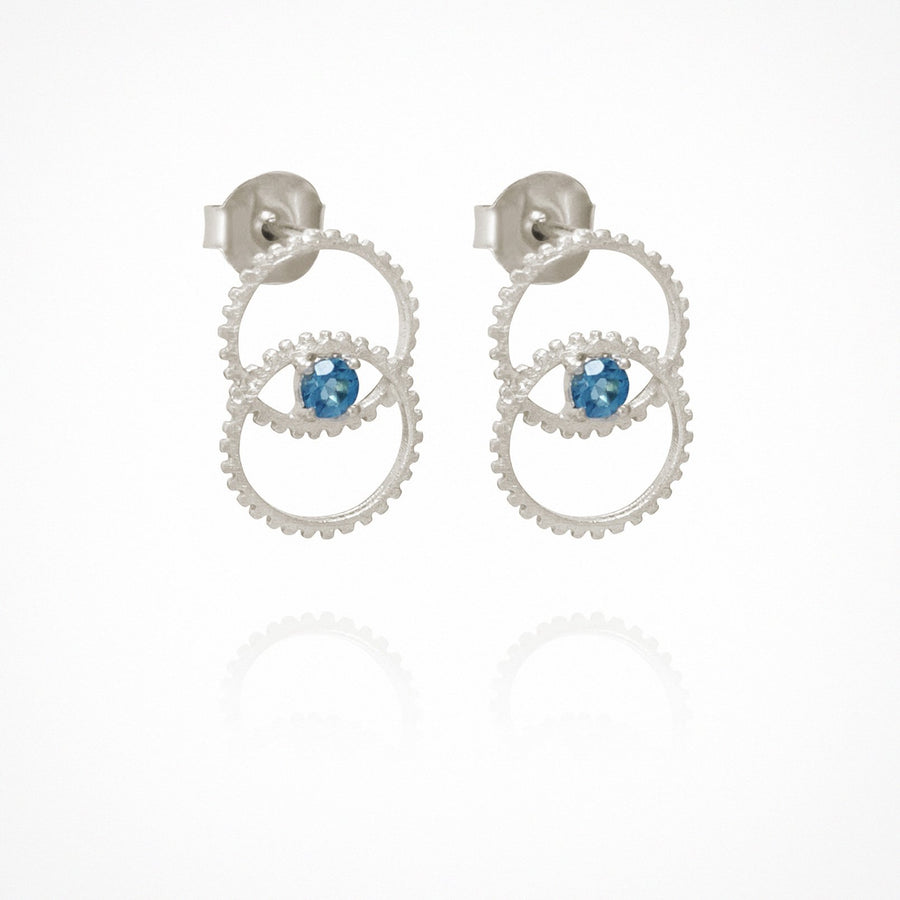 Fortuna Stud Earrings Silver