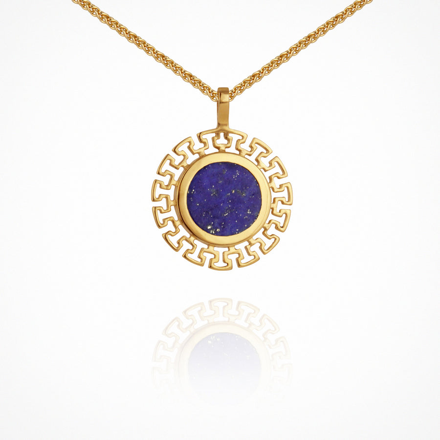 Kosmos Necklace Lapis Gold