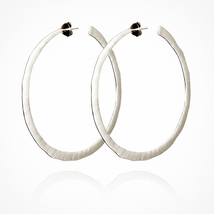 Large Hoop Earrings Silver