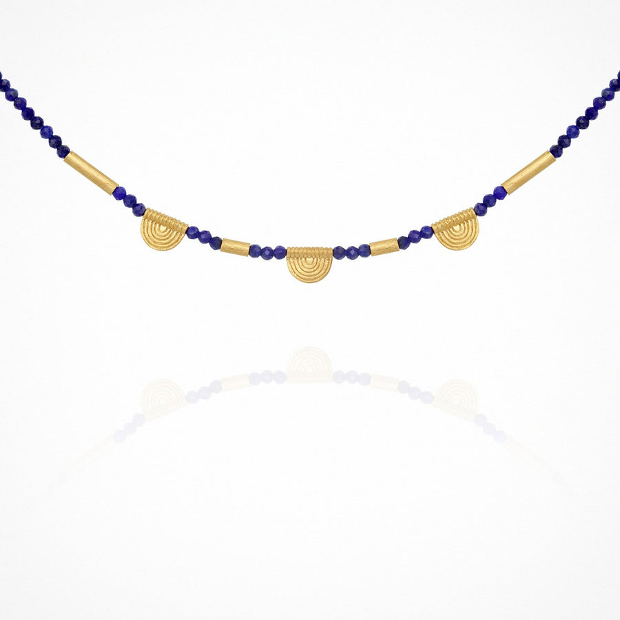 Lazuli Necklace Gold
