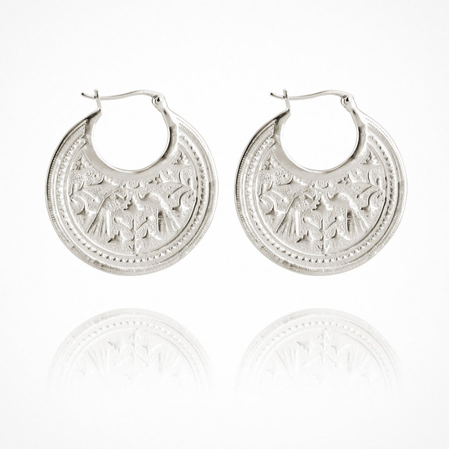 Peacock Earrings Silver