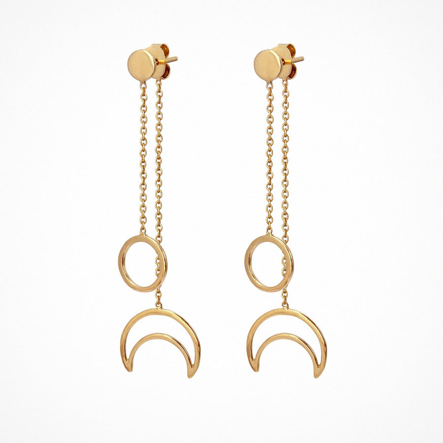 Selene Earrings Polished Gold
