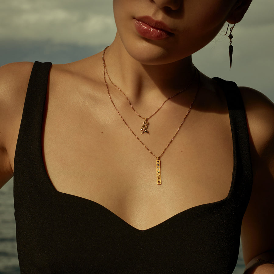 Iris Necklace Gold