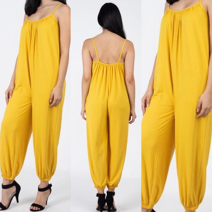 Porsha Jumpsuit Yellow