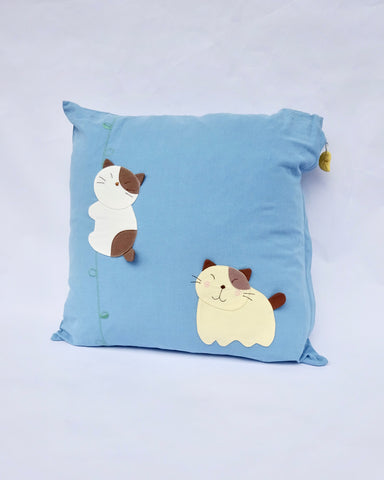 Jungle Cats Pillowcase (Blue)