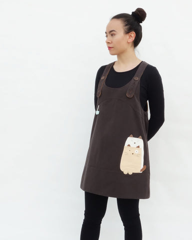 Paw Straps Dress (Brown)
