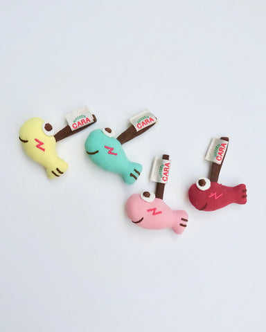 Bitsy Fish Zipper Charms
