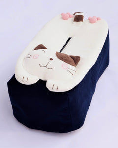 Cat Loaf Tissue Cover (Dark Blue)