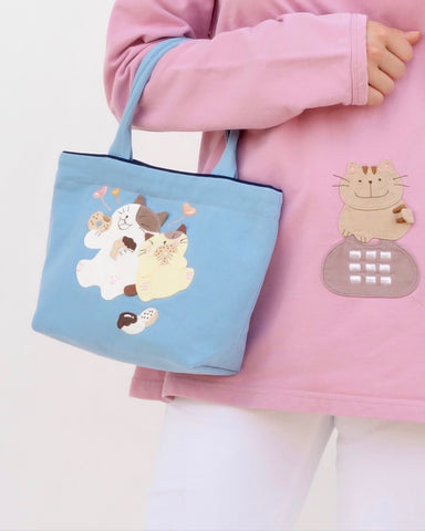 Lunch Friends Mini Tote (Blue)