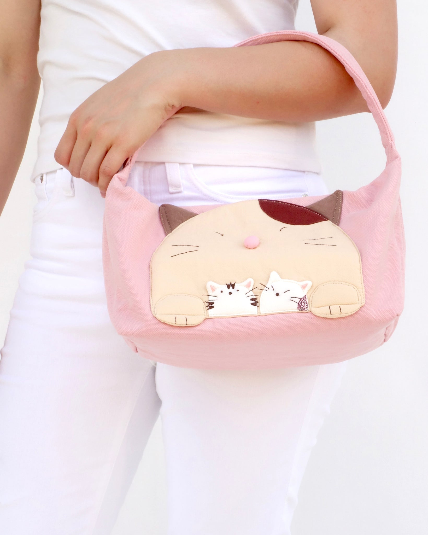 Mommy-Cat Purse (Pink)