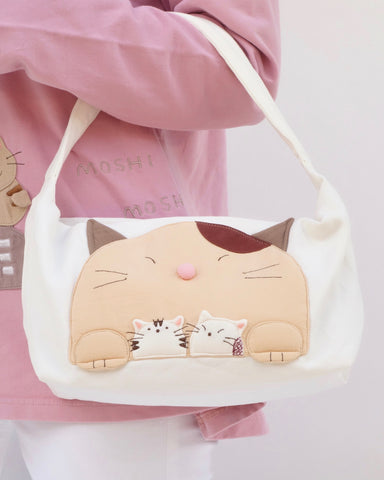 Mommy-Cat purse (White)
