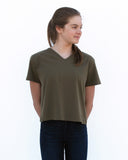 Tama and Friends Crop Top (Olive Green)