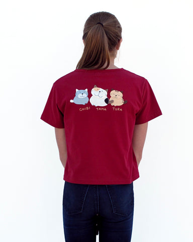 Tama and Friends Crop Top (Red)