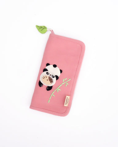 Panda Cat Slim Wallet (Light Pink)