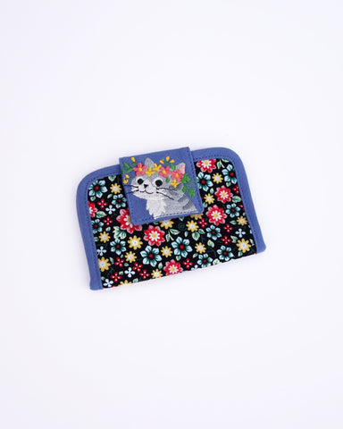 Blooming Card Case (Blue Blossoms)
