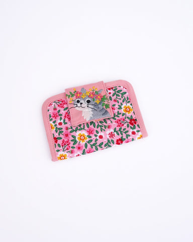 Blooming Card Case (Pink Poppies)