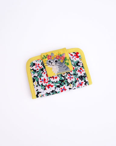 Blooming Card Case (Golden Gardenias)