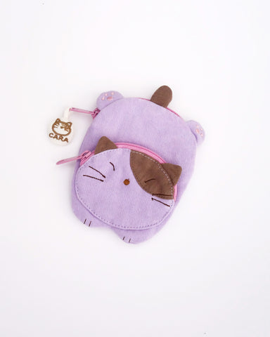 Cat Sploot Coin Purse (Lilac)