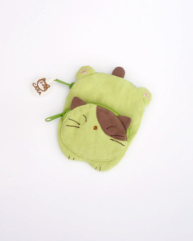 Cat Sploot Coin Purse (Spring Green)