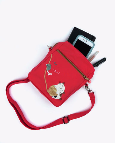 Cat n' Mouse Crossbody Bag (Watermelon Red)