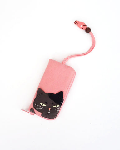 Grumpy Cat Key Pouch (Light Pink)