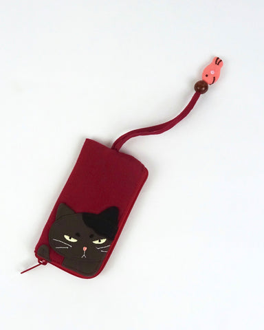 Grumpy Cat Key Pouch (Red)
