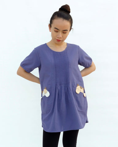 Hidden Kittens Tunic (Purple)