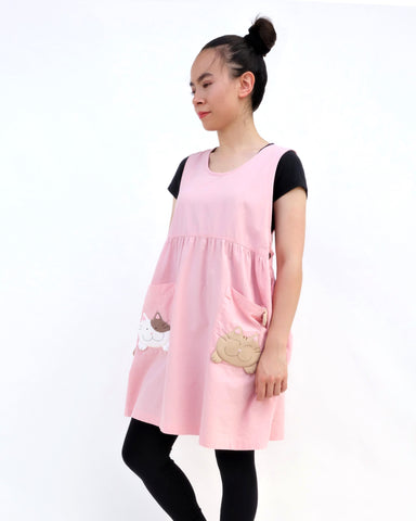 Adult Pocket-Kittens Dress (Pink)
